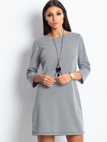 Czarno-biała sukienka damska w pepitkę