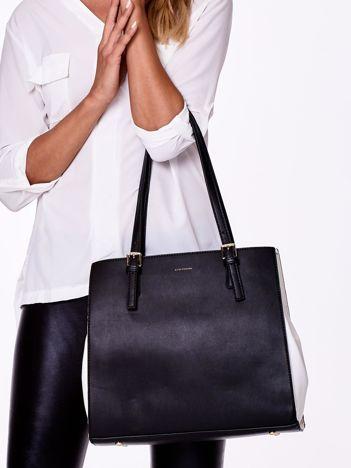Czarno-biała torba miejska na ramię