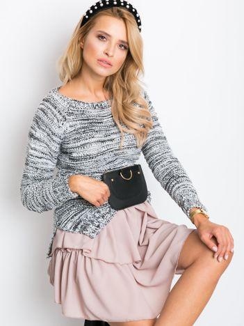 Czarno-biały sweter Combo