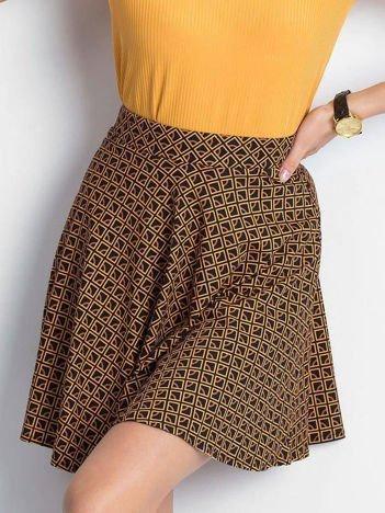 Czarno-brązowa spódnica Shiny