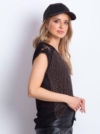 Czarno-brązowy t-shirt Hattie
