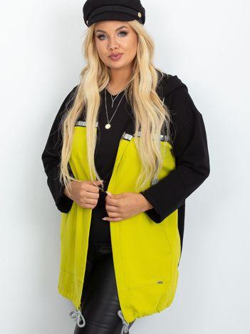 Czarno-limonkowa narzutka plus size Caroline