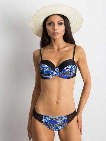 Czarno-niebieski kostium kąpielowy Motown