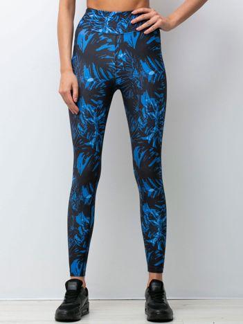 Czarno-niebieskie legginsy Faraway