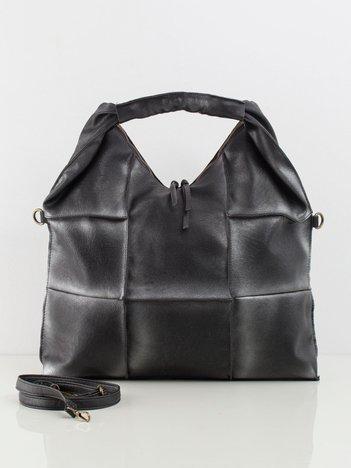 Czarno-srebrna bardzo duża torebka