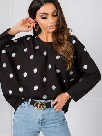 Czarno-srebrna bluzka Billie RUE PARIS