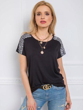 Czarno-szary t-shirt Secret RUE PARIS