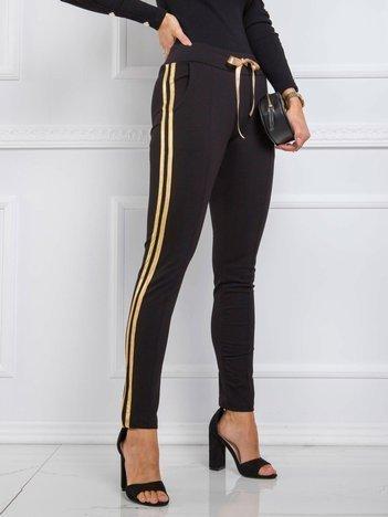 Czarno-złote spodnie Diary RUE PARIS