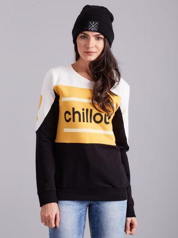 Czarno-żółta bluza bawełniana z napisem