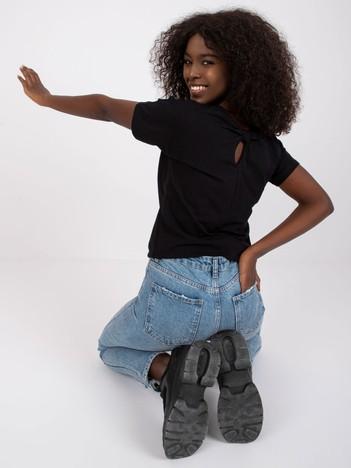 Czarny bawełniany t-shirt