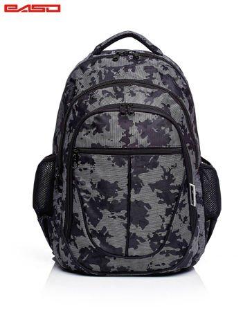 Czarny chłopięcy plecak szkolny z motywem moro