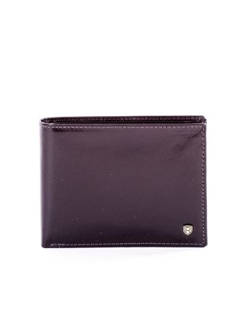 Czarny elegancki skórzany portfel męski