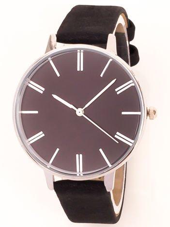 Czarny klasyczny zegarek damski na wąskim pasku