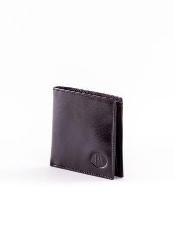 Czarny mały portfel męski ze skóry