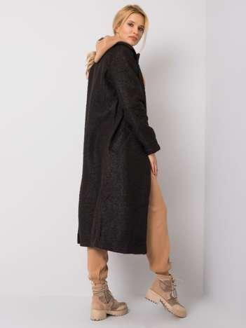 Czarny płaszcz bouclé Paquita RUE PARIS