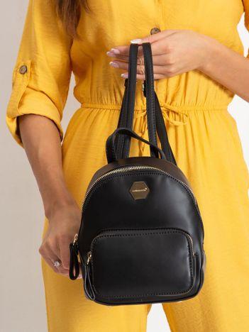 Czarny plecak damski z ekoskóry