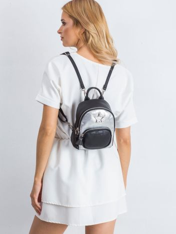 Czarny plecak damski ze skóry ekologicznej