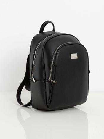 Czarny plecak ze skóry ekologicznej