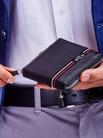 Czarny portfel dla mężczyzny ze skóry naturalnej