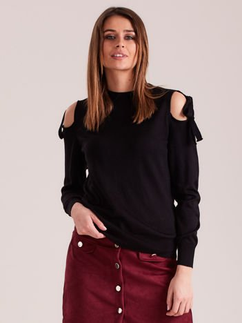 Czarny sweter cold arms