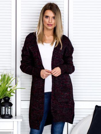 Czarny sweter melange z kieszeniami