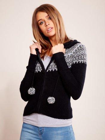 Czarny sweter na suwak