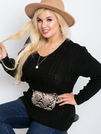 Czarny sweter plus size Tango
