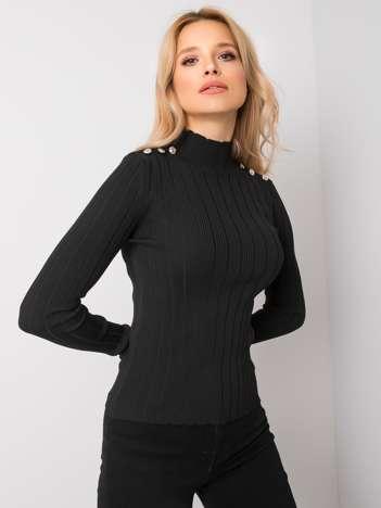 Czarny sweter z golfem Madison RUE PARIS