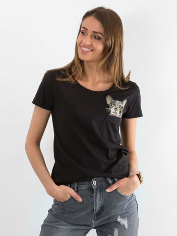 Czarny t-shirt Giverny