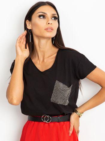 Czarny t-shirt Shelly