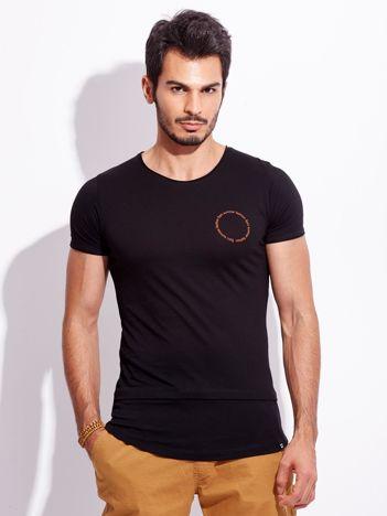 Czarny t-shirt dla mężczyzny z napisem