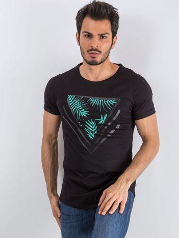 Czarny t-shirt męski Triangle