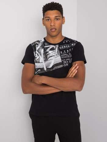 Czarny t-shirt z bawełny Kendrick