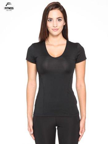 Czarny termoaktywny t-shirt sportowy PLUS SIZE