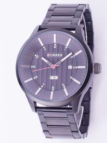 Czarny zegarek męski na bransolecie