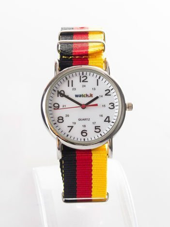 Czarny zegarek męski z nylonowym paskiem