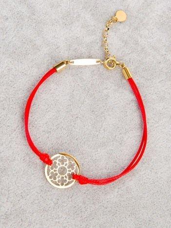 Czerwona AŻUROWA damska bransoletka z najlepszej jakości STALI CHIRURGICZNEJ 316L