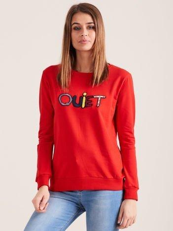 Czerwona bluza QUIET