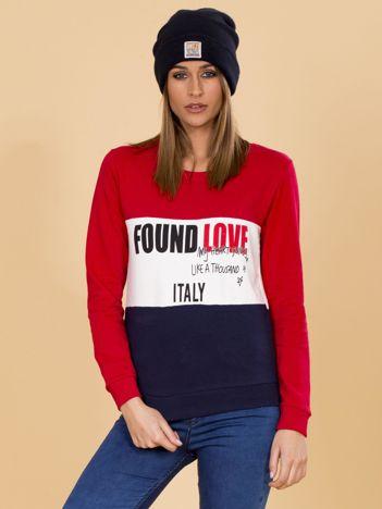 Czerwona bluza damska z napisami