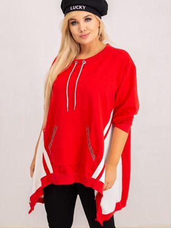 Czerwona bluza plus size Later