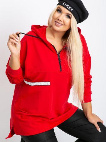 Czerwona bluza plus size Shire