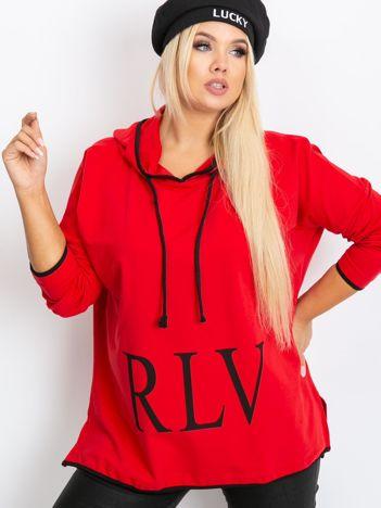 Czerwona bluza plus size Skip