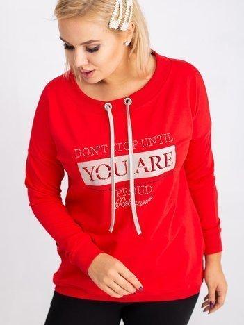 Czerwona bluza plus size Twinkle