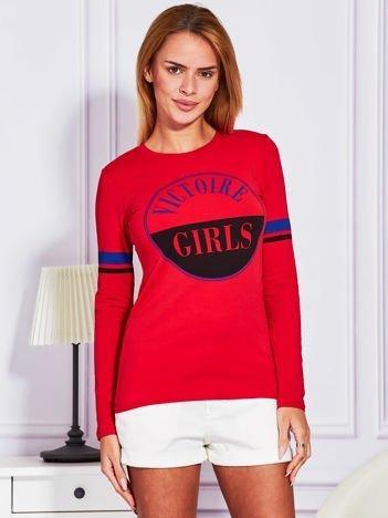 Czerwona bluzka VICTOIRE GIRLS