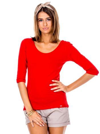 Czerwona bluzka damska basic