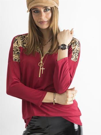 Czerwona bluzka z zamkiem