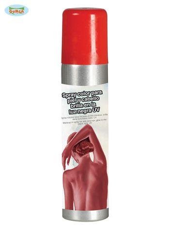 Czerwona farba do ciała w sprayu