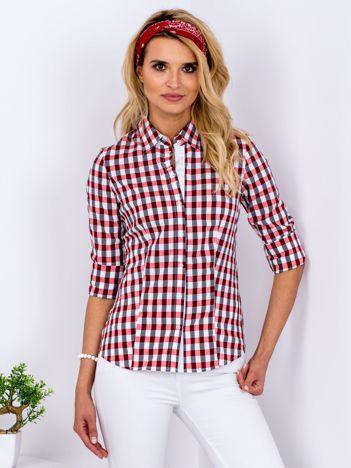 Czerwona koszula we wzór kratki