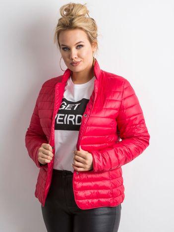 Czerwona kurtka z pikowaniem PLUS SIZE