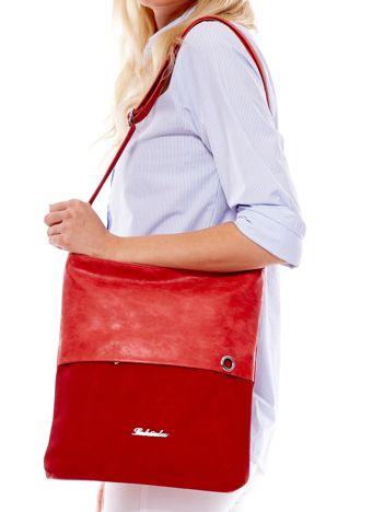 Czerwona modułowa torba listonoszka